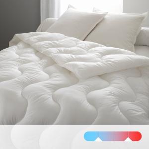 Одеяло синтетическое с чехлом из натурального материала, 4 сезона BEST. Цвет: белый
