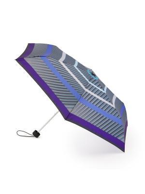Stripes (Полоски) Зонт женский механика Henry Backer. Цвет: серый