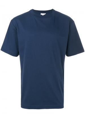Классическая футболка Sunspel. Цвет: синий