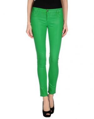 Джинсовые брюки BLEULAB. Цвет: зеленый