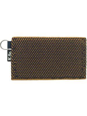 Мини кошелек кардхолдер K.So.Six K.So.. Цвет: оранжевый, темно-синий