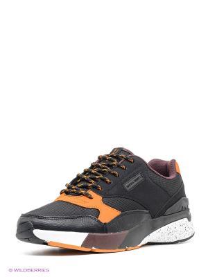 Кроссовки Jack&Jones. Цвет: черный, оранжевый, белый