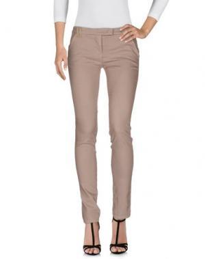 Джинсовые брюки E-GÓ. Цвет: голубиный серый