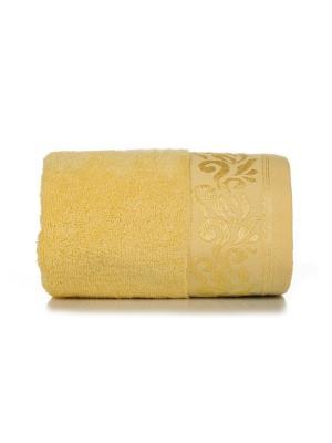 Полотенце махровое ЛЮСИ цв. желтый 70х140 TOALLA. Цвет: желтый