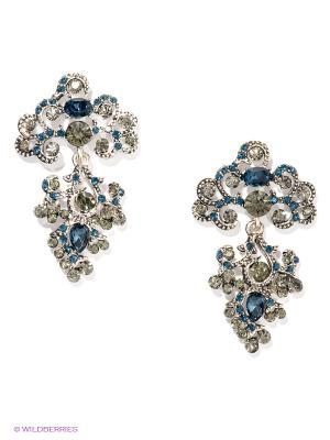 Серьги Royal Diamond. Цвет: серебристый, синий