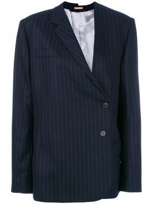 Пиджак в тонкую полоску Nehera. Цвет: синий