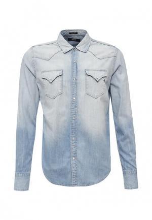 Рубашка Replay. Цвет: голубой