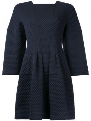 Платье Quilted & Ponte Celestial Bianca Spender. Цвет: синий
