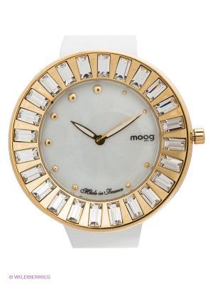 Часы MOOG. Цвет: белый