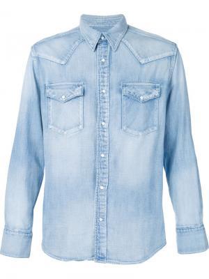 Джинсовая рубашка Visvim. Цвет: синий