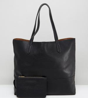 Street Level Черная сумка-тоут. Цвет: черный