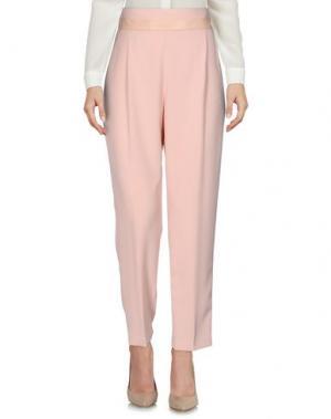 Повседневные брюки BETTY BLUE. Цвет: светло-розовый