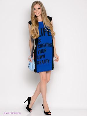 Платье Vero moda. Цвет: темно-синий, черный
