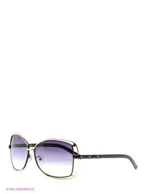 Солнцезащитные очки Selena. Цвет: черный, золотистый