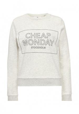 Свитшот Cheap Monday. Цвет: серый