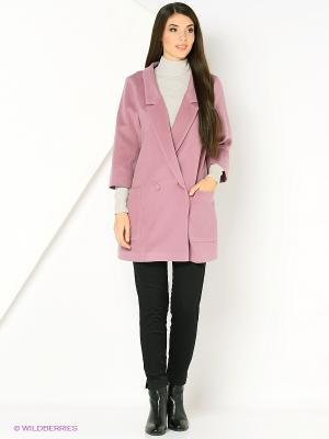 Пальто RUXARA. Цвет: розовый