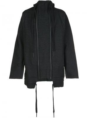 Куртка с двумя молниями Barbara I Gongini. Цвет: чёрный