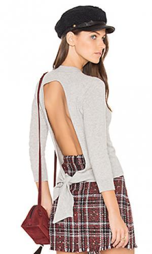Укороченный свитер с завязкой сзади Autumn Cashmere. Цвет: серый