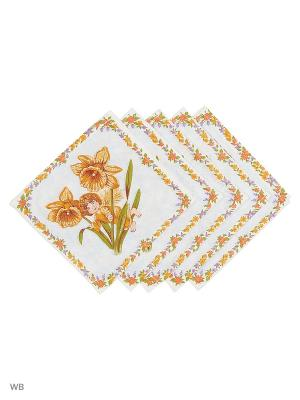 Набор платков носовых детских Римейн. Цвет: желтый, голубой