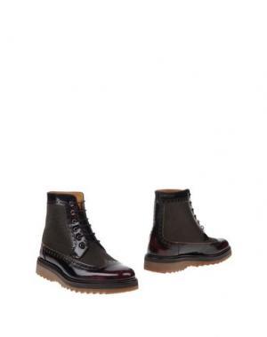 Полусапоги и высокие ботинки MARC JACOBS. Цвет: красно-коричневый