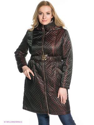 Пальто X'cluSIve. Цвет: темно-коричневый