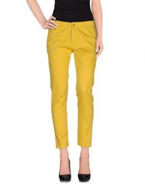 Повседневные брюки KUBERA 108. Цвет: желтый