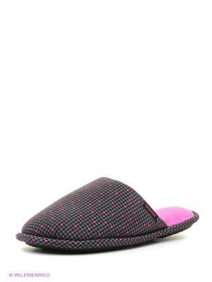 Тапочки Isotoner. Цвет: серый, розовый
