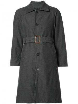 Классическое пальто средней длины Engineered Garments. Цвет: серый