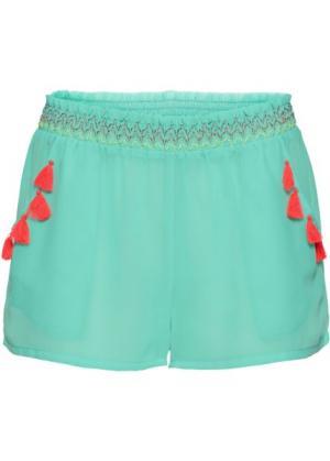 Пляжные шорты (бирюзовый) bonprix. Цвет: бирюзовый