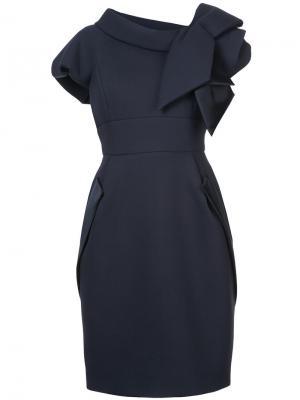 Bow detail dress Dice Kayek. Цвет: синий