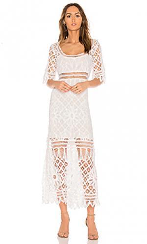 Платье tessa LoveShackFancy. Цвет: белый