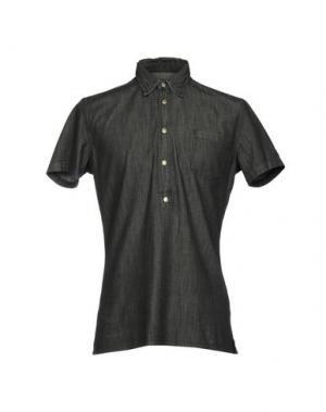 Джинсовая рубашка HYDROGEN. Цвет: стальной серый