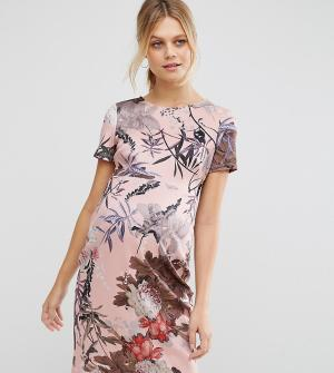 ASOS Maternity Облегающее платье для беременных с цветочным принтом. Цвет: мульти