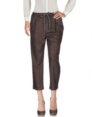 Повседневные брюки BRAND UNIQUE. Цвет: темно-коричневый