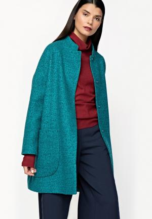 Пальто Sultanna Frantsuzova. Цвет: бирюзовый