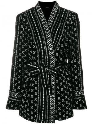 Пиджак-кимоно с поясом Dodo Bar Or. Цвет: чёрный