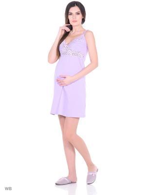 Сорочка женская для беременных и кормящих Hunny Mammy. Цвет: сиреневый