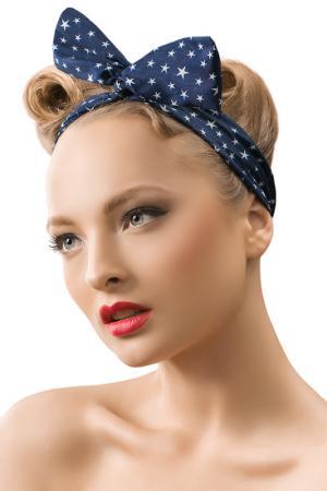 Ободок для волос Nothing but Love. Цвет: темно-морской, синий, белый