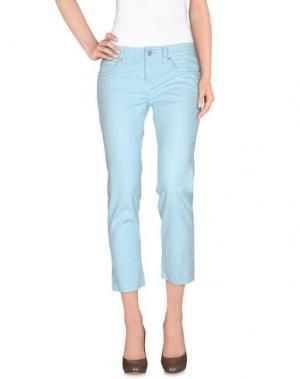 Повседневные брюки NOTIFY. Цвет: небесно-голубой