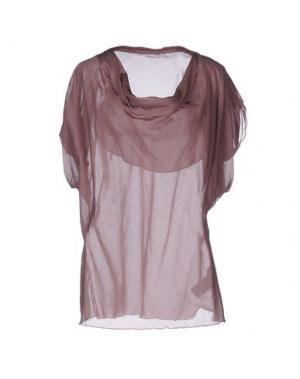 Блузка GUGLIELMINOTTI. Цвет: светло-коричневый