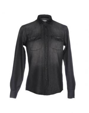 Джинсовая рубашка DONDUP. Цвет: свинцово-серый