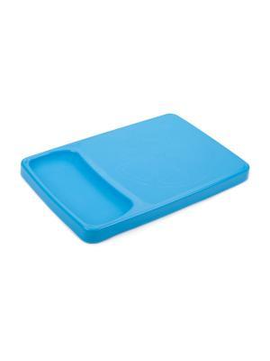 Доска разделочная с лотком Kleo (голубая лагуна) Berossi. Цвет: голубой