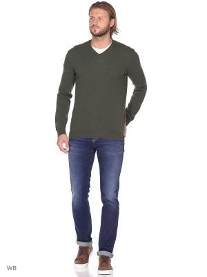 Пуловер United Colors of Benetton. Цвет: хаки