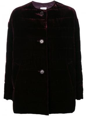 Дутое бархатное пальто Aspesi. Цвет: розовый и фиолетовый