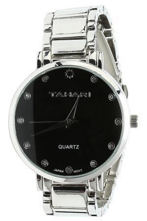 Часы TAHARI. Цвет: silver, black dial