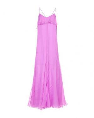 Длинное платье JUST CAVALLI. Цвет: светло-фиолетовый