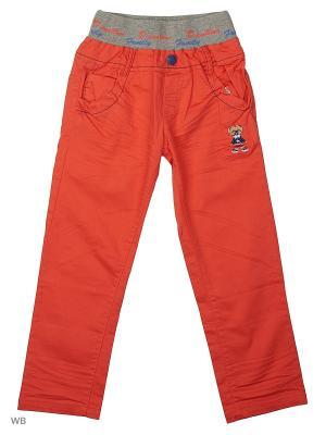 Брюки Kidly. Цвет: серый, оранжевый