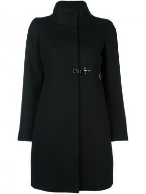 Пальто с высоким воротником Fay. Цвет: чёрный