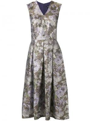 Платье с цветочным узором и эффектом металлик Raoul. Цвет: многоцветный
