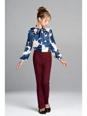 Блузка MORU. Цвет: темно-синий